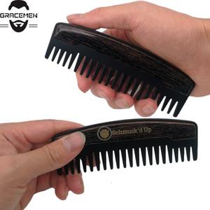 موك 100 قطع ل Amazon Preminum مخصص شعار الشعر مشط الأسنان واسعة معدنية اللحية خشبية مشط زيت الشعر أمشاط من أجل gentelmen
