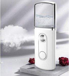 Portable USB Nano Facial Mister Steamer Mini Face Air Humidifier Facial Mist Sprayer Moisturizing Clearing Triangle Humidifiers BWB2900