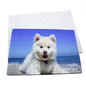 Blank Sublimation Thermal Transfer Heat Printing DIY A4 blank puzzle toy kids gift Paper puzzles can DIY pictures by yourself F120507