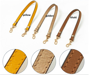Genuine Leather 1.2*33CM Short Single Shoulder Straps Bag Accessories Bag Handles Cross Pattern