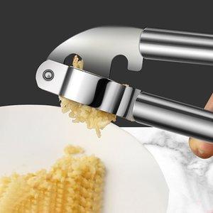 Stainless Steel Garlic Masher Garlic Press Household Multi-Functional Thickened Large Garlic Press Kitchen Manual Crusher