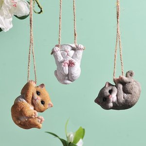 Swing Small Animal Tree Decoration Pendant Creative Cute Garden Courtyard Cat and Dog Aerial Hanging Jewelry Home B005