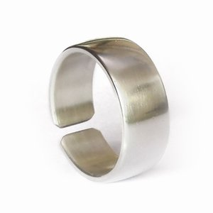 LINSION 925 Sterling Silver Open Size Simple Ring 10mm Width Mens Biker Ring 9Y009 US 5~16 (Notice: Ring Width 10mm)