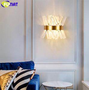 Fumat Wall Light Sconce Modern K9 Crystal Lámpara de pared LED LED E14 D 25CM Pasillo LUJO DE LUJO Dormitorio europeo Luces de cama