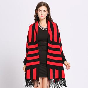 Hot selling fashion designer ladies retro fashion knitted cashmere cloak shawl scarf ladies winter shawl shawl cardigan blanket cloak coat s