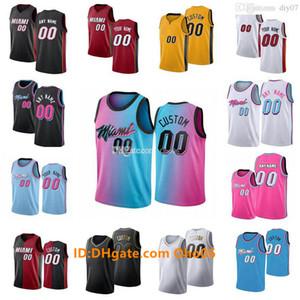 Custom Miamis Männer Frauen Kind 3 Wade 14 Herro 13 Adebayo 99 Crowder 55 Robinson 44 Hill Nunn 22 Butler 9 Olynyk Dragic City Basketball Trikots