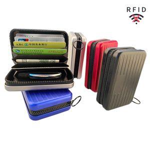 Aluminum Alloy Large Capacity Card Holder Keychain Wallet for Women Cash Case Men Luxury