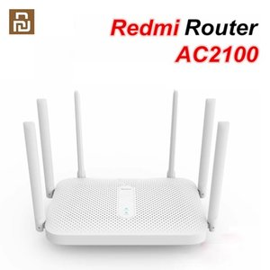 Original Xiaomiyoupin Redmi AC2100 Router Gigabit Dual-Band Wireless Router Wifi Repeater with 6 High Gain Antennas Wider Coverage Easysetup