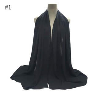 Fashion crepe chiffon hijab scarf gorgeous solid muslim scarfs 10pcs wrinkle scarves high quality