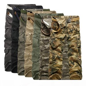 2018 New Cotton Cargo Pants Men Military Style Tactical Workout Straight Men Trousers Casual Camouflage Man Pants C19041301