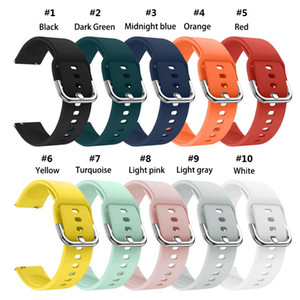 2020 20mm Sports Silicone Band For Samsung Galaxy Watch active 42MM & Gear 2 Sport Strap For Huami Amazfit Bip Amazfit 2 Smart Watch