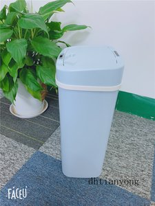 Big Capacity Bin For Kitchen With Sealing Ring Deodorant Trash Can Induction Type Smart Trash Can For Home And Hotel