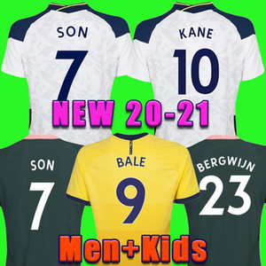 20 21 Kane Son Bergwijn Ndombele Soccer Jerseys 2020 2021 Lucas Dele Jersey Football Kit Shirt Lo Celso Home Bale Lamela Men + Kids Kit