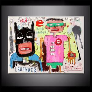 Abstract Jean-Michel Basquiat Home Decor Handpainted HD Stampa pittura a olio su tela Wall Art Canvas Immagini, F201208