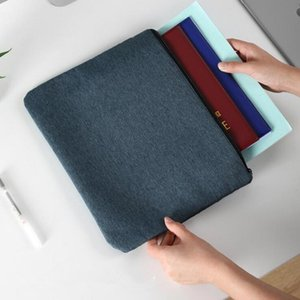 New Fashion Document Storage Bag Travel Passport Bag Large Capacity File Waterproof Moisture Gray Black Navy zipper