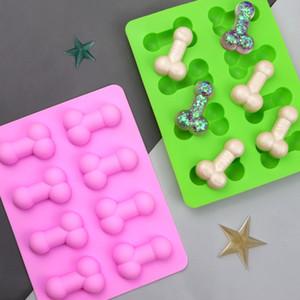Özgünlük Silikon Kalıp Buz Küp Kalıpları Komik Çikolata Kalıpları Tat Kek Dekorasyon Malzemeleri Yeşil DIY Yaz 2 9LD F2