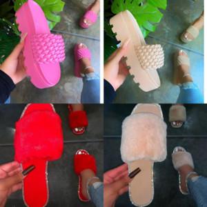 Q4SV5 Slipper Slipper Nice Knitting Sandals Playa Slide Slippers Ladies Verano Flip Home París Flops Mocasines Cuero Alta Calidad Floral