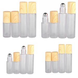 5 ملليلتر 10 ملليلتر البلاستيك زجاجات فارغة الزجاج بلوري الخشب جديد الحبوب المعادن الأسطوانة الكرة تعبئة العطور مستحضرات التجميل غسول زجاجة 2JS G2