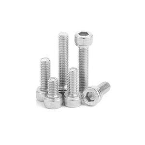 High Quality 100pcs M4 M5 Din912 304 Stainless Steel Hexagon Socket Head Cap Screws Hex Socket B wmtedt homes2007
