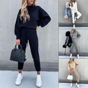 2 Piece Set Womens Outfits Autumn Long Sleeve Tracksuits Ladies Lounge Wear Joggers Active Sports Pyjamas