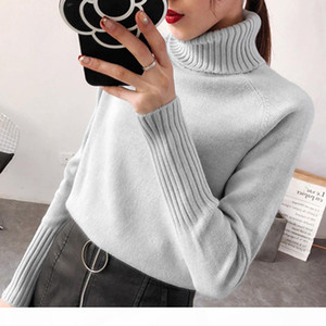Women Sweater Female Autumn Winter Warm Cashmere Knitted Women Sweater Solid Pullover Female Tricot Jersey Jumper Pull Femme