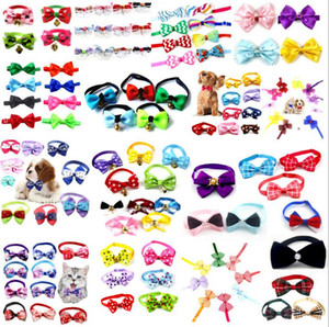 Pet Dog Cat Tie 100 Colors Pets Necklace Adjustable Strap for Cat Collar Dogs Accessories Pet Dog Bow Tie Puppy Bow Ties Pet supplies Z628