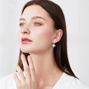 High end luxury Star & mang Earrings S925 Sterling Silver anti allergy lady Star Stud asymmetric left and right shiny free shipping