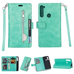 Case For Xiaomi Redmi 7A Note 7 8 Pro Magnet Flip Leather Wallet Stand Zipper With Card Pocket Cover For Mi 9SE CC9 A3 Lite Capa