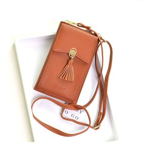 Designer-Women Wallet Shoulder Bag 2020 PU Leather Money Coin Mini Chain Long Mobile Phone Card Holders Clutch Female Phone Messenger Bag