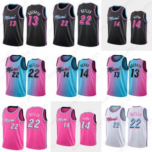 Tyler 14 Herro Bam 13 Jimmy 22 Butler 2021 Basket Jersey Adebayo 55 Dwayne Dwyane 3 Wade Goran 7 55 Dragic Robinson Black Blue Pink Hot Hot