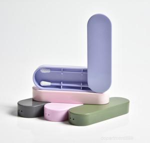 Lastswab многоразовые хлопчатобумажные тампоны ухо косметические силиконовые бутоны тампоны палочки с коробкой для очистки макияжа и прикосновения OWC1093