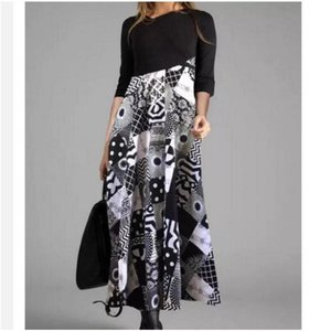 2020 O neck women winter Tshirt Long sleeve Fashion female casual Chic printing ladies work midi autumn dress