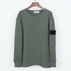 Topstoney Shirt Shirt T Cotton Mens M-XXL Fashion Casual Embroidery O-Neck Long Sleeve Streetwear Sweatshirt 8 Colors Badge Ihknm