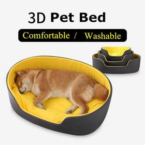 Cute 3D cuscino cuscino per cani da cani nido con tappetino caldo piccolo cani medio pet pet materasso rimovibile materasso gatto cane letto cane cucciolo kennel w0107