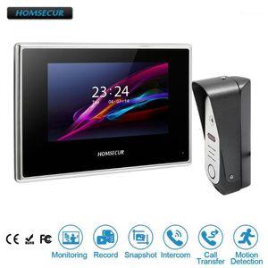 "Homsecur 7 ""السلكية VideoAudio Smart Boorbell Home-Free Home Intercom + للأمن BC051-S + BM718-B1"