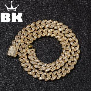 13 мм Bagnette Zircon Miami Cuban Link Ожерелье Золото Серебряный Цвет Различный Роскошный Коммикрос Вымощенные Кубинские Цепочки 16 / 18/20/22 / 24inch 201218