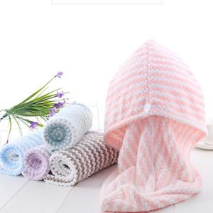 Зимние микрофибры банные полотенца Magic Быстрые сухие волосы Tuibans Абсорбирующие обернутые волосы шляпа для волос женщины халаты шляпы кемпинга одеяла BWC3699