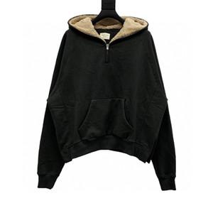 Tanrı Essentials Korkusu En Kaliteli Erkek Kadın Giyim Sis Baskı Hoodies Lambswool Uzun Kollu Streetwear S-XL
