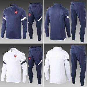 Top 2020 France soccer Tracksuit Track suits GRIEZMANN jacket 2021 POGBA chandal MBAPPE training suits sports wear