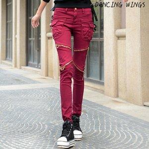 Spring Personality Pocket Zipper Jeans Femme Stretch Slim Fit Women's Casual Loose Harem Pants Plus Size