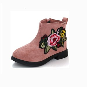 Girls spring and autumn leather plush Martin boots girls school ankle boots princess boots new 5 6 8 9 10 12 13 years Y1127
