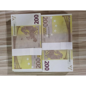 15 Hot-Ready Simulation 200 EURO Fake Fake Money Toy Toy Toil Television Printing Rupport Praction Banknote Bar Game Token