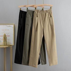 GIGOGOU M-2XL plus Taille Taille Taille Femmes Casual Harem Pantalons Spring Automne Dessins Carrot Pantalon Longue Femme Bureau Dames Pantalons Y200418
