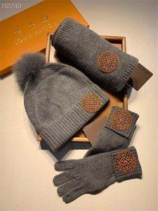 20New Männer Frauen Schal und Hut Set gestrickte Halsbänder Marke Caps Top Qualität Beanie Ball Hüte