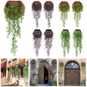 2 PCS Hanging Garland Vine Flower Trailing Bracket plant Artificial Hanging Wall-mounted green leaf simulation rattan party decoration