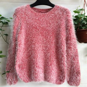 Mohair Pullover Knitted Sweater Women Clothes 2021 Autumn Winter Korean Harajuku Loose Jumper Robe Pull Femme Hiver Sweater
