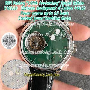 Eternity BBRF 150 aniversario Especial Constante Constante Version Force Tourbillon A94850 Automático 590110 Moon Fase Green Power Reserva Mens Reloj Hombre