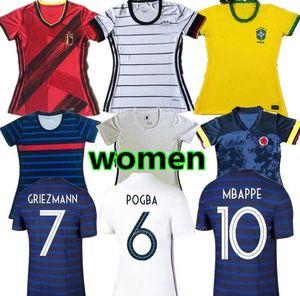 10 free DHL! VARANE UMTITI POGBA 20 21 women soccer Jersey GRIEZMANN GIROUD MBAPPE KANTE 2020 2021 lady MATUIDI DEMBELE ms