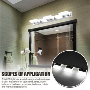 12W Four Lights Acrylic Wall Lamp Bathroom Lamp White Light Silver Top-grade material waterproof Wall Lamps wholesale