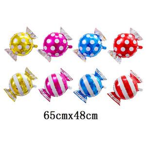 Прекрасные полосы точек сладкие конфеты формы алюминиевой пленки шар свадьба свадьба день рождения декор детские игрушки фабрика оптом DHD3880